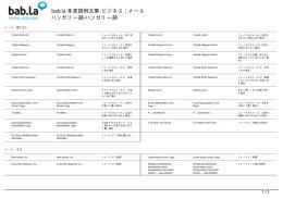 多言語例文集: ビジネス | メール (ハンガリー語