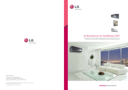LG Residential Air Conditioners 2011