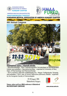 Program booklet (pdf) - HMAA Hungary Chapter