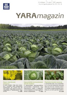 Yara Magazin 2011. augusztus