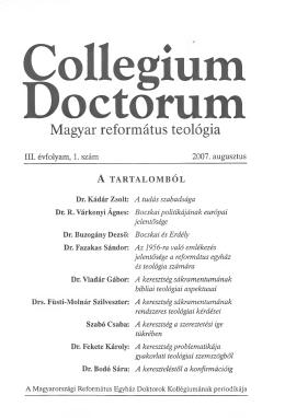 A Collegium Doctorum 2007. évi száma PDF 5,5 MB