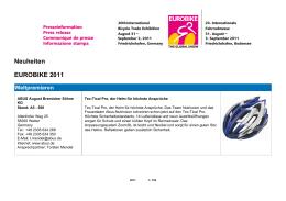 Neuheiten EUROBIKE 2011