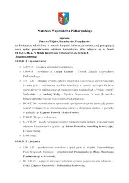 zaproszenie i program - Klub Integracji Europejskiej