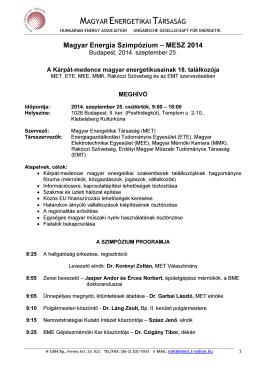 Program - Komlós Ferenc