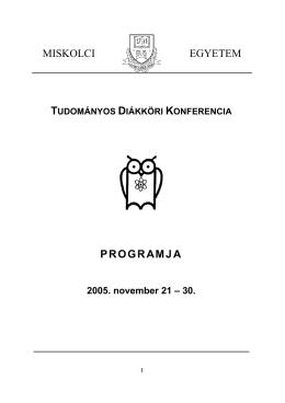 2005. évi TDK Konferencia