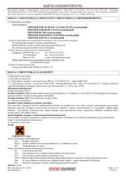 ALBI SP. Z O.O. Kraków KARTA CHARAKTERYSTYKI