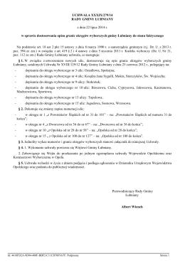 Uchwała Nr XXIII/268/2012 z dnia 30 października 2012 r.