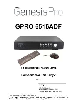 GenesisPRO GPRO 6316 (6516)AD-F