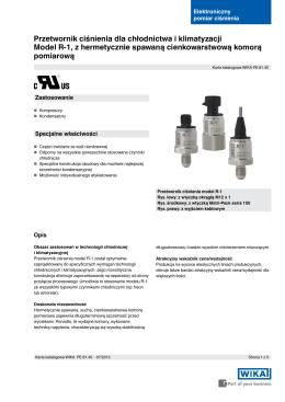 Instrukcja obsługi Elektroniczny czujnik ciśnienia PL2658