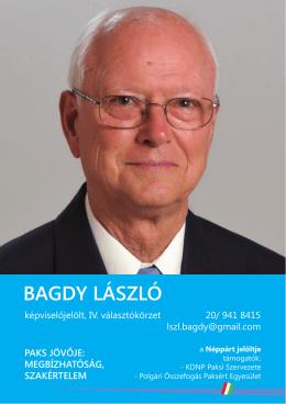 Bagdy László programja