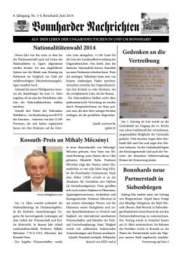 nationalitätenwahl 2014 Kossuth-Preis an mihály