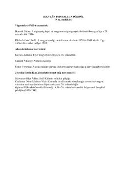 Tudományos irányító/vezető munka