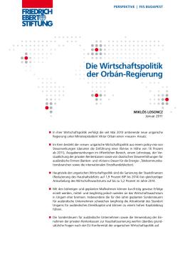 Die Wirtschaftspolitik der Orbán-Regierung