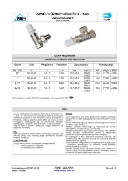 ExCos-P/RedCos-P/InCos-P Czujniki różnicy ciśnień