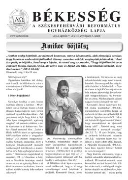 2. szám - Székesfehérvári Református Egyházközség