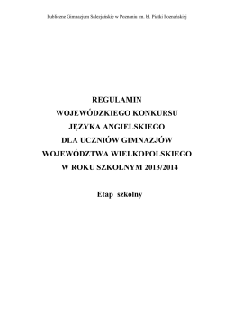 Regulamin - Gimnazjum nr 2 w Bochni