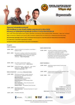 Zaproszenie i program spotkania do pobrania w pliku PDF