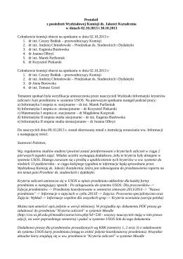 Protokół z mediacji pomiędzy Federacją Zwiazków Zawodowych