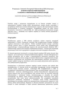 Problemy z ustawą o OZE - postulaty środowisk - EKO-UNIA