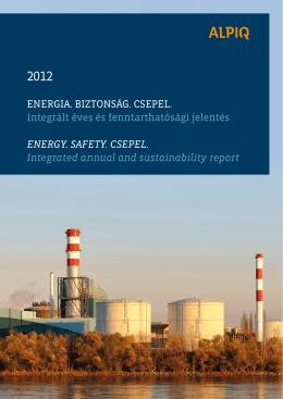 Integrált Éves és Fenntarthatósági Jelentés 2012 PDF