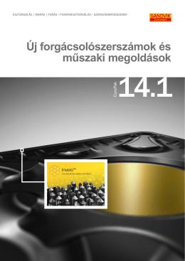 Új forgácsolószerszámok és műszaki megoldások 14.1