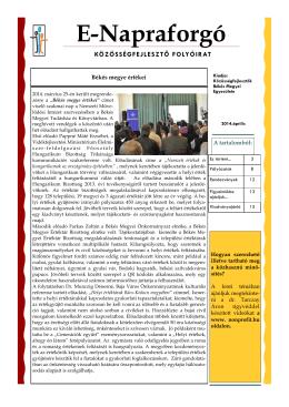 E-Napraforgó - Közösségfejlesztők Békés Megyei Egyesülete