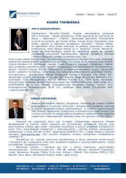 Kandydaci 2012 - Trenerzy