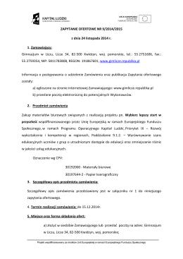 Regulamin korzystania z faktury elektronicznej w Yamo Sp. z o.o.