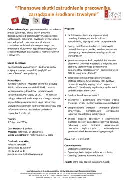 Wykaz kodów PKD wspieranych w ramach projektu - UTP
