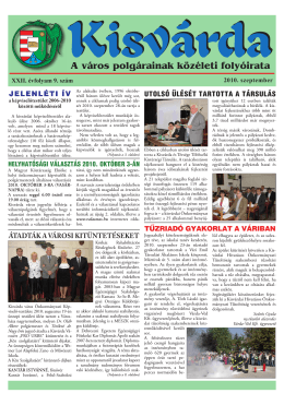 Szeptember - Kisvárda Város honlapja