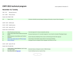 CINTI 2013 technical program