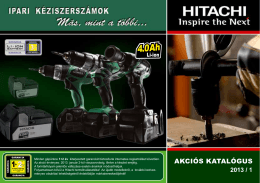 Hitachi Power Tools - Akciós katalógus 2010-1