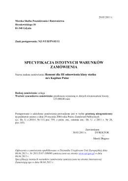 1 ZAMAWIAJ Ą CY Szpital Dziecięcy im. prof. dr. med. J