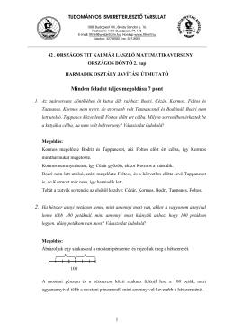 3. osztály 2. nap - Kalmár László Matematika Verseny