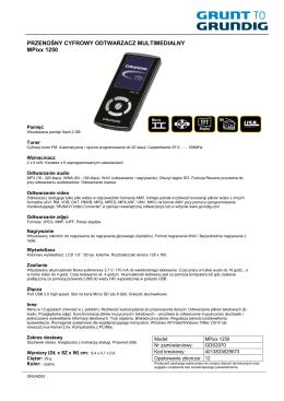 Nazwa produktu: Model: Indeks: Kod EAN: Opis - Eura-Tech