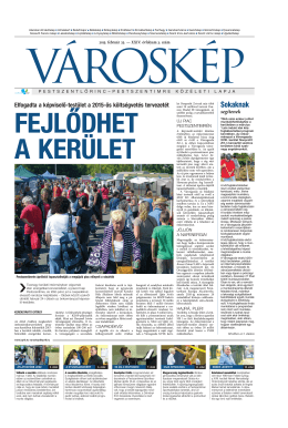 2015. 03. szám - Városgazda XVIII. Kerület Nonprofit Zrt.