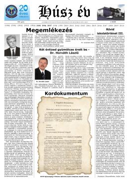 A Debreceni Egyetem Egészségügyi Kar Jubileumi Lapja