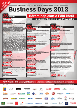 Business Days 2012 program 07_13 v2.indd