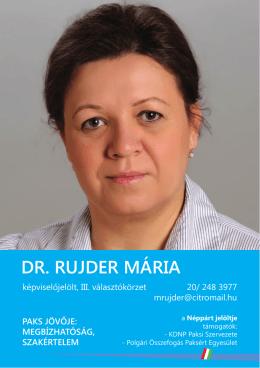 DR. RUJDER MÁRIA