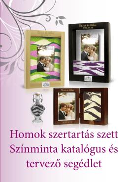 Homok szertartás szett Színminta katalógus és tervező segédlet