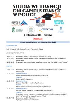 Harmonogram Konferencji - Powiatowe Centrum Kultury w
