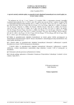 UCHWAŁA Nr 18/2013 ZGROMADZENIA ZWIĄZKU