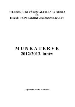 Munkaterv 2012-13 - Celldömölki Városi Általános Iskola