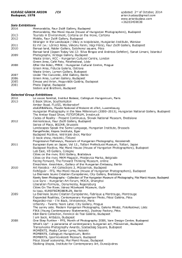 Curriculum Vitae (pdf, 150Kb)