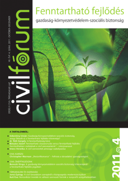 Fenntartható fejlődés – gazdaság-környezetvédelem