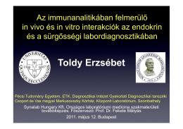 Prof. Dr. Toldy Erzsébet