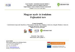 Magyar nyelv fejlesztési terv (pdf)