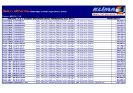 Altherma LT (LT: Alacsony előremenő fűtővíz hőmérséklet, max. 50