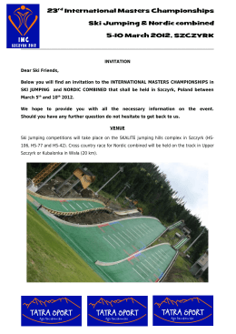 invitation fis cup zakopane 09–10 february 2013