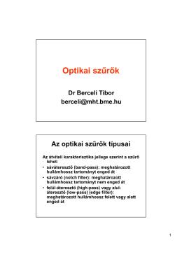 Optikai szűrők